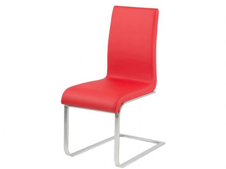 Red Cantilever Dining Chair
