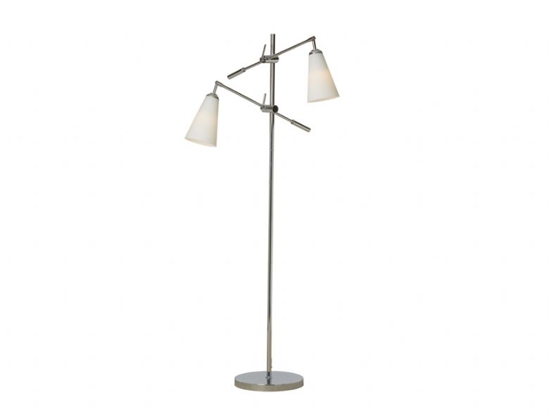 Glass 2 Light Floor Lamp