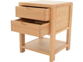 Ercol Bosco Oak 2 drawer bedside table