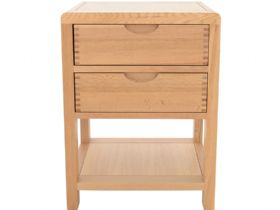 Ercol Bosco oak 2 drawer side table