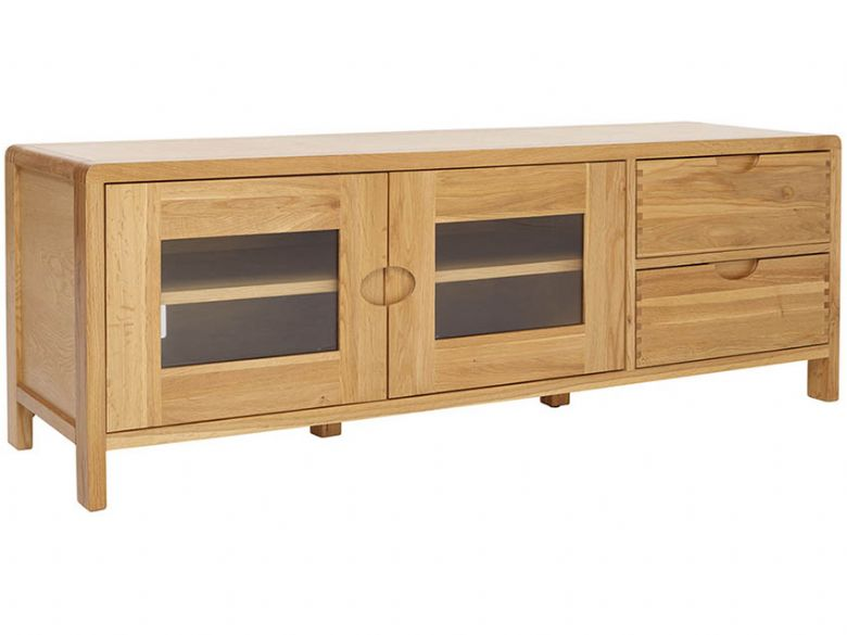 Oak Wide TV Unit