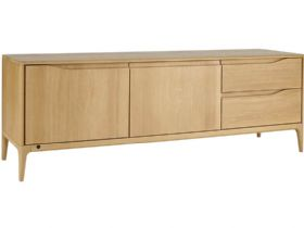 Oak Wide IR TV Unit