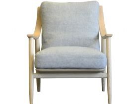 Ercol Marino armchair in grey fabric