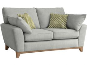 Large Fabric Sofa With Pale Oak Feet