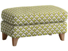 Fabric Footstool With Pale Oak Legs