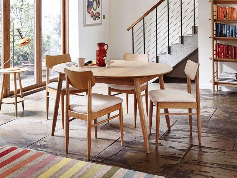 Ercol Teramo Oak Small Extending Dining Table Lee Longlands