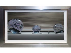 Silver Spheres Liquid Art