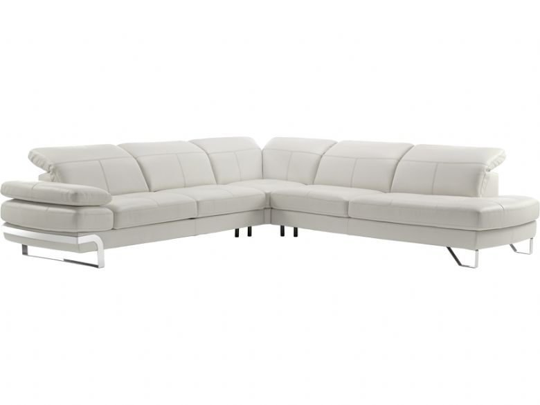 LHF Modern Leather Corner Sofa