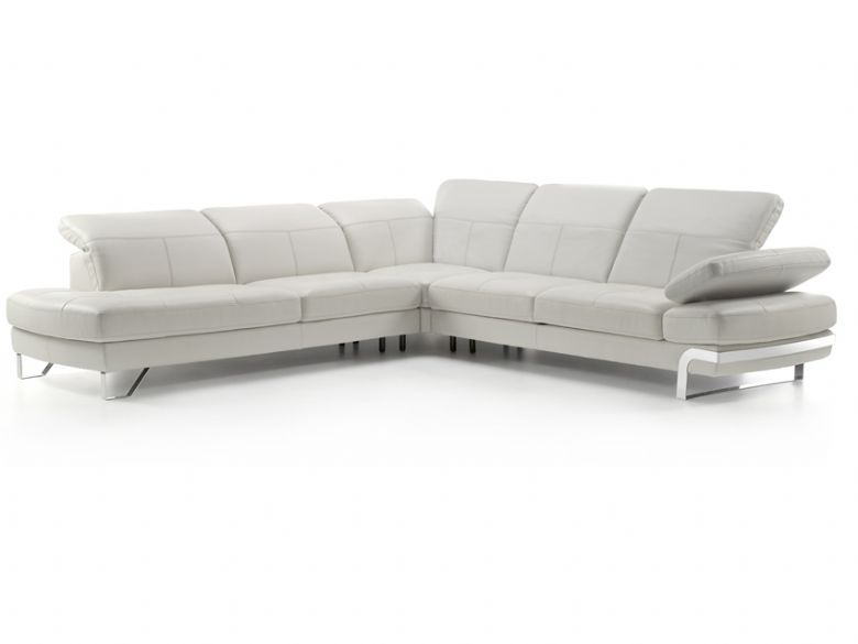 Modern corner sofa with adjustable headrest