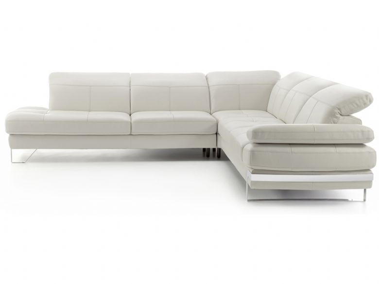 Right hand facing leather sofa with chaise