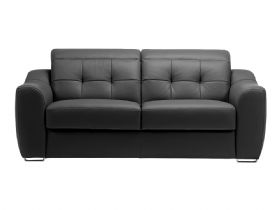 2 Seater Modern Leather Sofa With Double Power Recliners