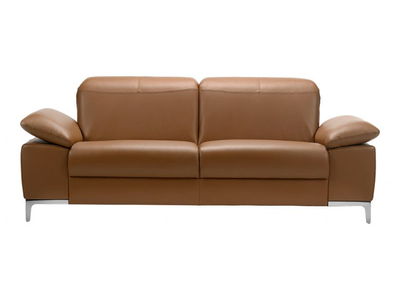 Rom Teatro 2 Seater Modern Leather Sofa With Double Power Recliners