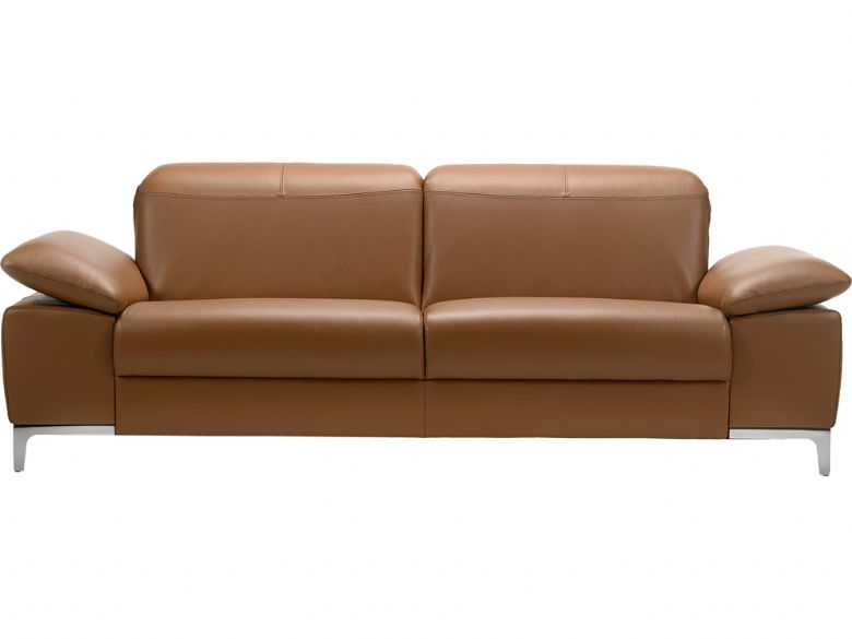 Rom Teatro modern leather 3 seater sofa
