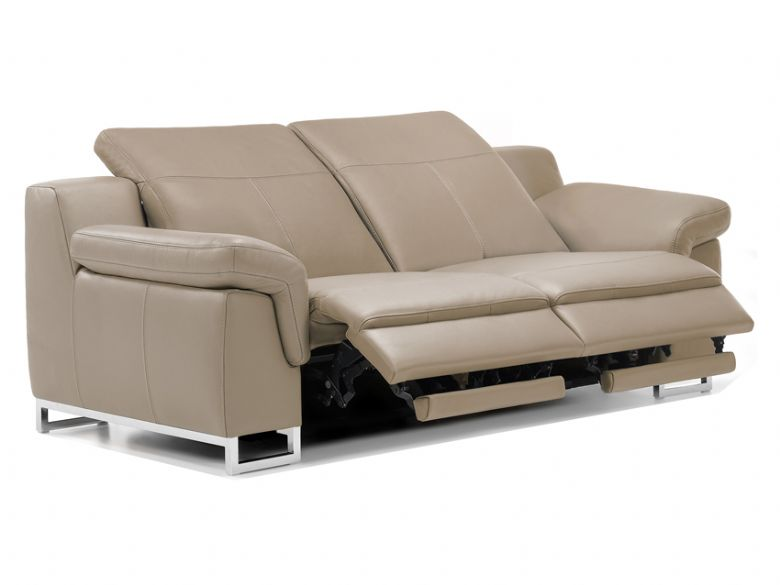 Mario recliner sofa in natural leather