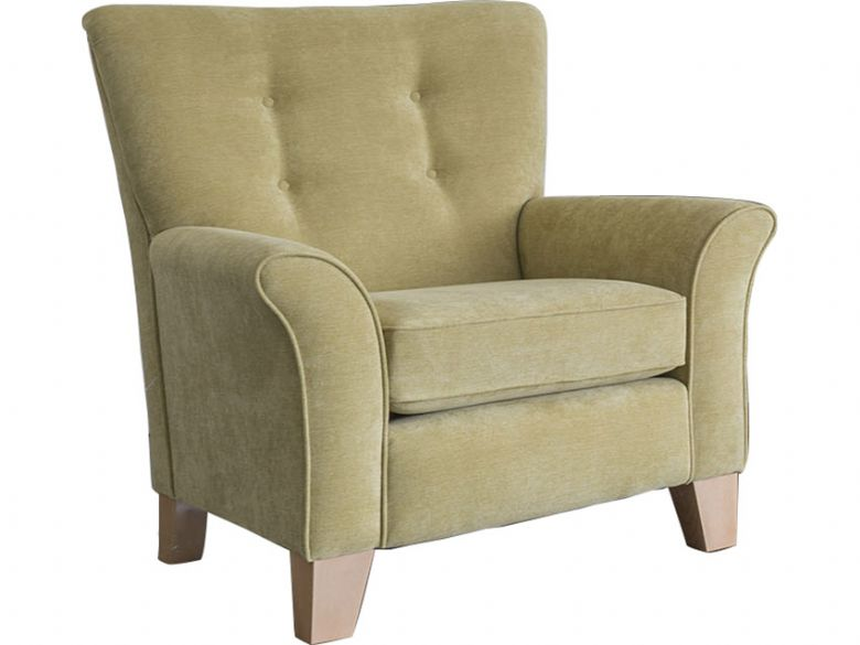 Alstons Barcelona accent chair in yellow