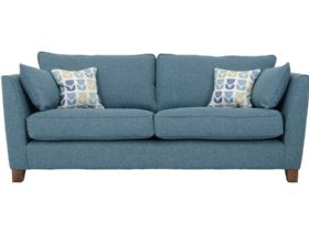 3 Seater Large Modern Fabric Sofa