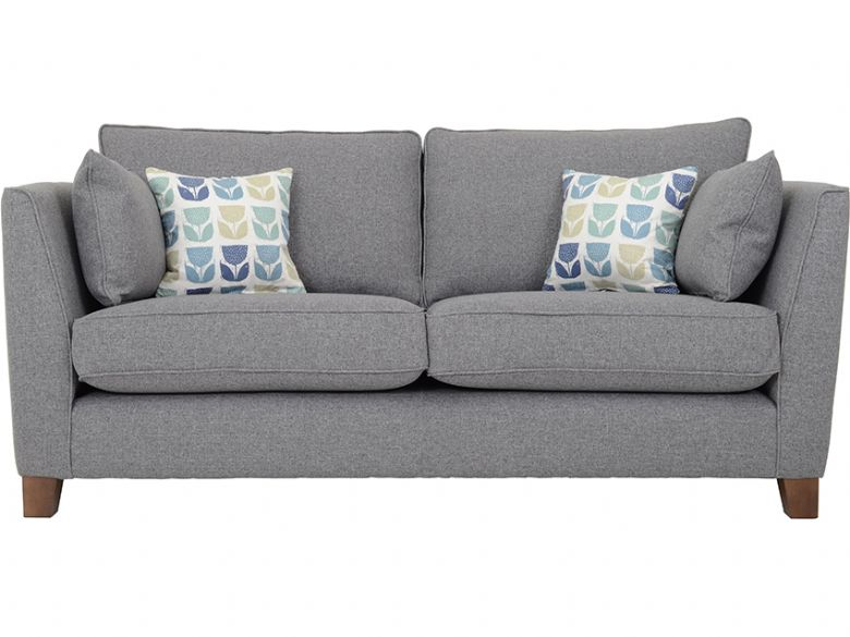 York 2 Seater Fabric Sofa (Black)
