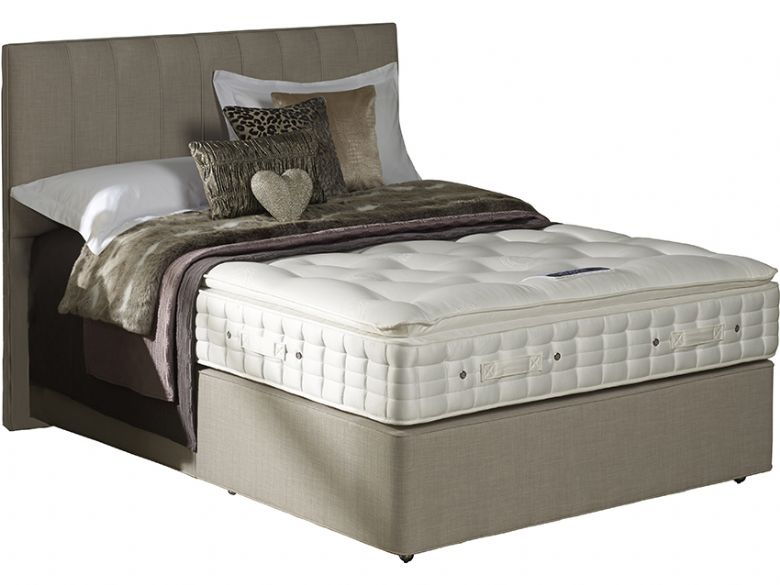 Hypnos Stratus pillow top mattress and divan set, in beige fabric