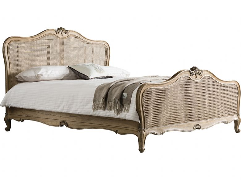 Ashwell weathered king size cane bed