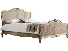 Weathered 5'0 King Size Cane Bed