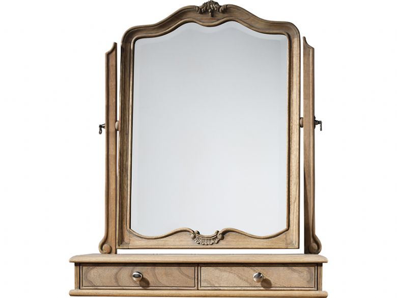 Ashwell chalk dressing table mirror with 2 drawers