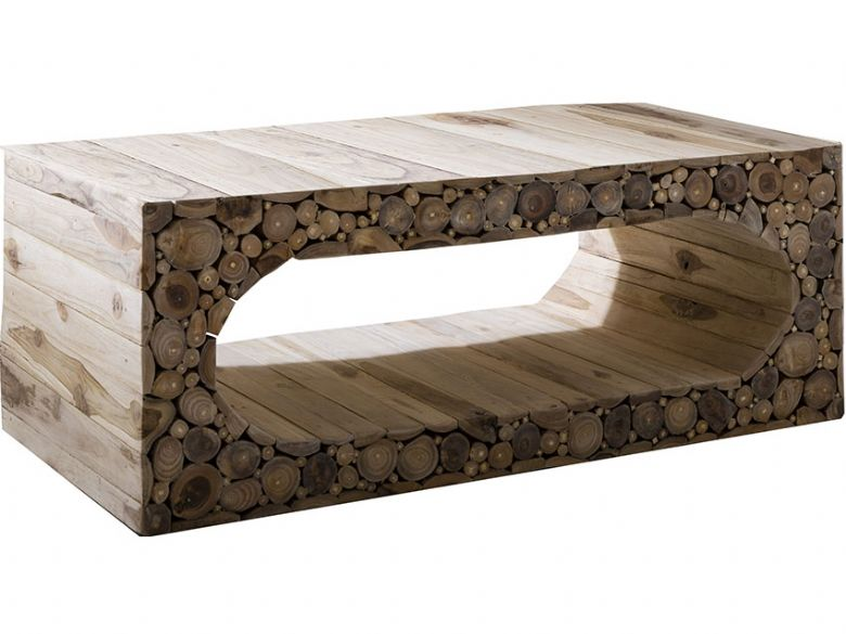 Stoneyhurst Log Wood Coffee Table Lee Longlands