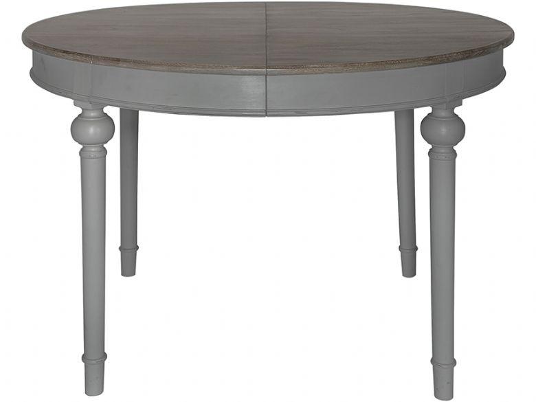 laurent dark grey round extending dining table lee longlands