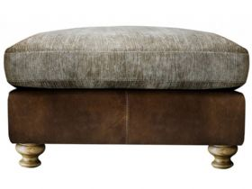 Longrow Leather & Fabric Footstool