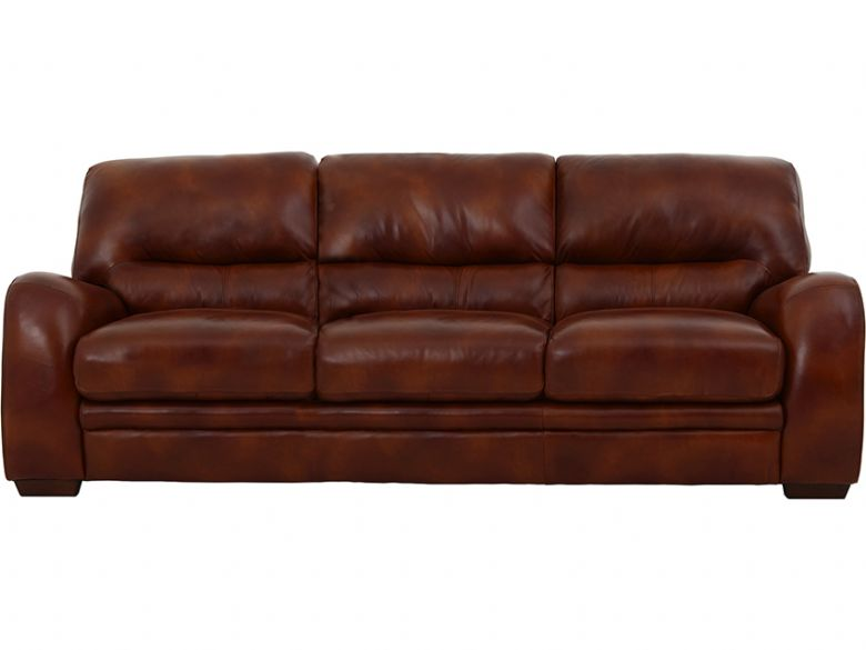 Millie 3 seater leather sofa