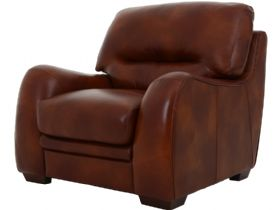 Millie brown leather chair
