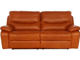 Modern 2.5 Seater Leather Manual Recliner Sofa