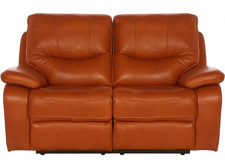 Modern 2 Seater Leather Manual Recliner Sofa