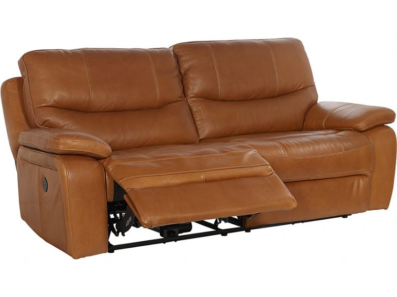Lexworth Modern 2 Seater Leather Power Recliner Sofa Lee