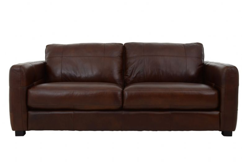 Kentville 3 Seater Leather Sofa Front