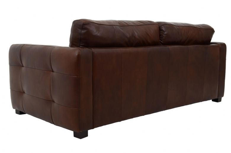 Kentville 3 Seater Leather Sofa Rear View