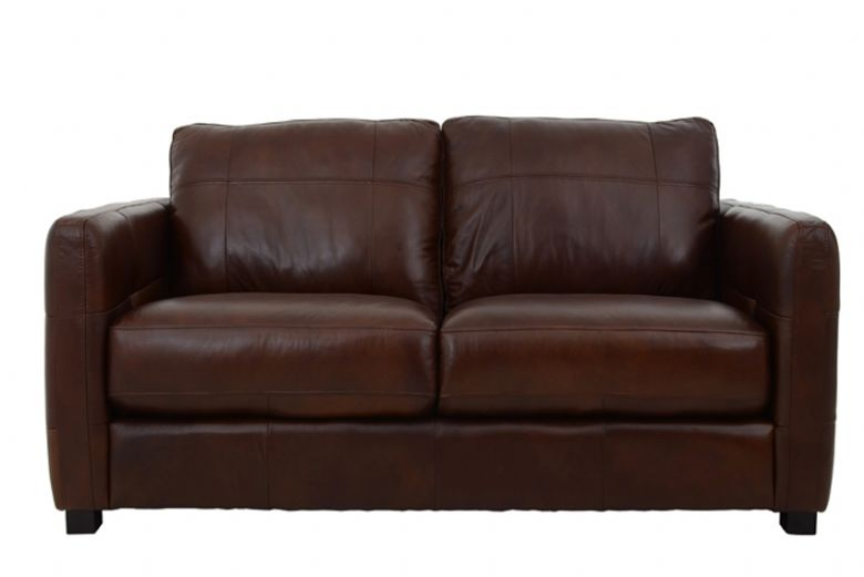 Kentville 2 Seater Leather Sofa Front