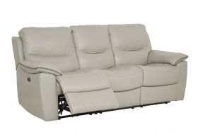 HTL 3 Seater recliner Leather Sofa Side