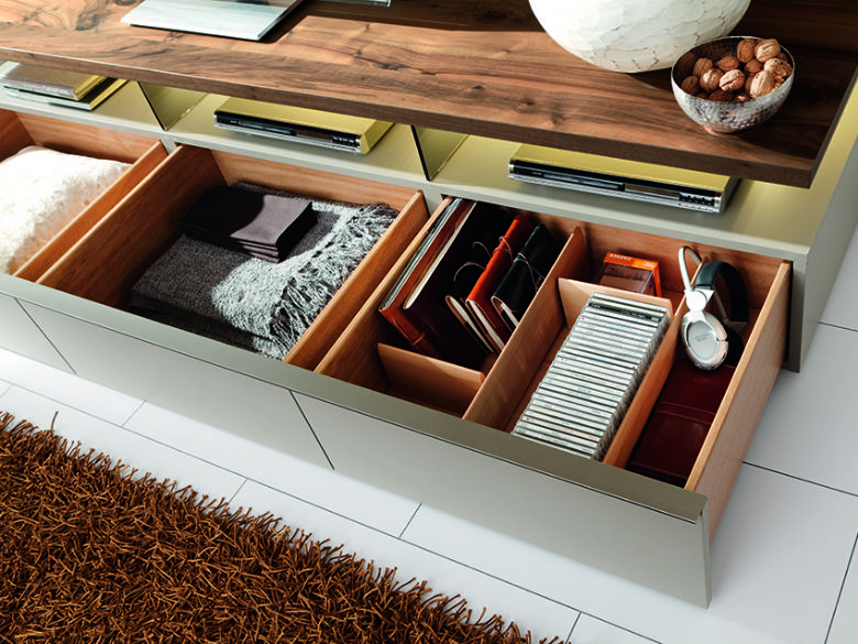 FE31 Wall Combination TV Unit Front Storage
