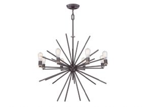 Carnegie 8lt Chandelier Western Bronze Finish