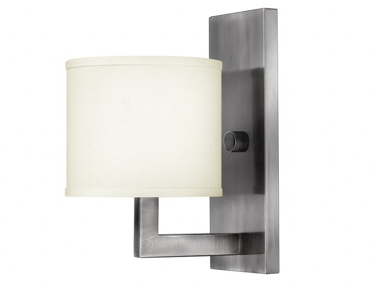 Hampton Antique Nickel 1 Light Wall Lamp
