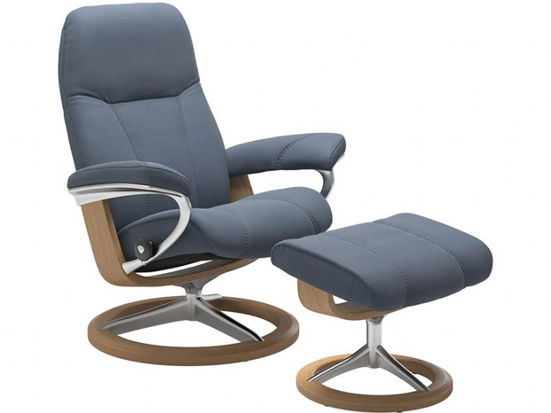Stressless Consul Chair & Stool - Signature Base