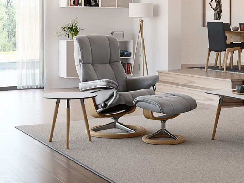 Stressless Mayfair Recliner Chair and Stool