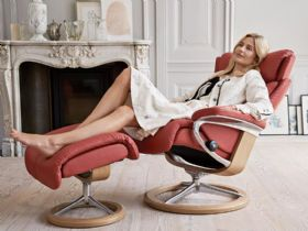 Stressless Magic Leather Chair with Signature Base by Ekornes