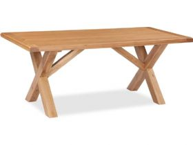Fairfax Oak 190cm Cross Dining Table