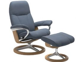 Leather Chair & Stool Signature Base
