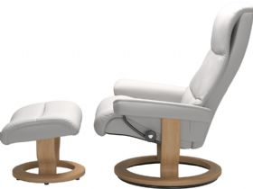 Stressless View chair and footstool at Lee Longlands