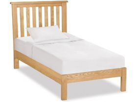 Oak 3'0 Single Low Bed Frame