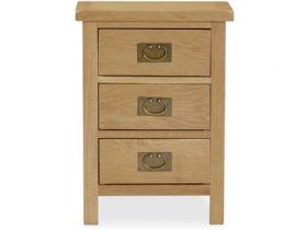 Fairfax Compact Oak Bedside Table with Drawers