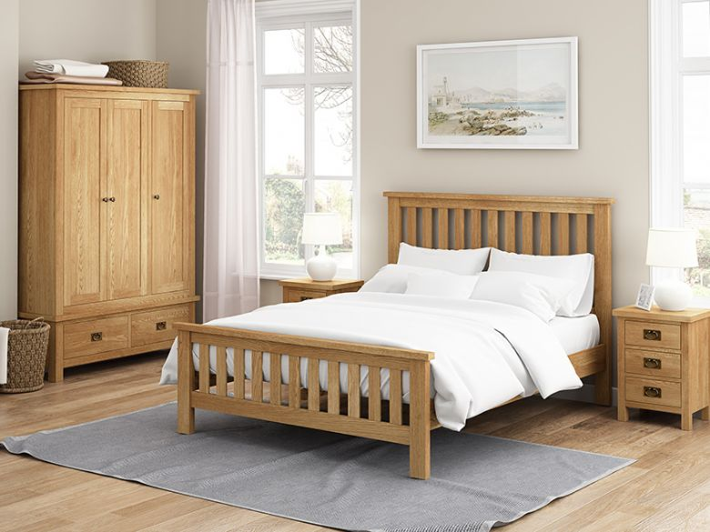 Fairfax Compact Oak bedroom collection