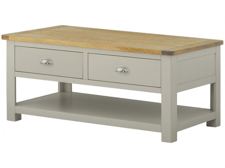 Hunningham painted coffee table with drawers